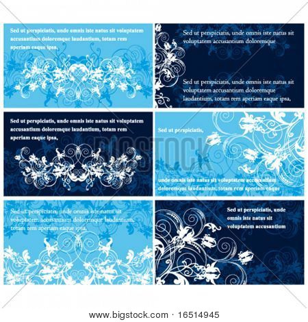 Floral discount cards templates .The horizontal set