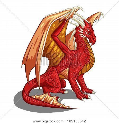 Cartoon vector dragon - fantasy mythology illustration