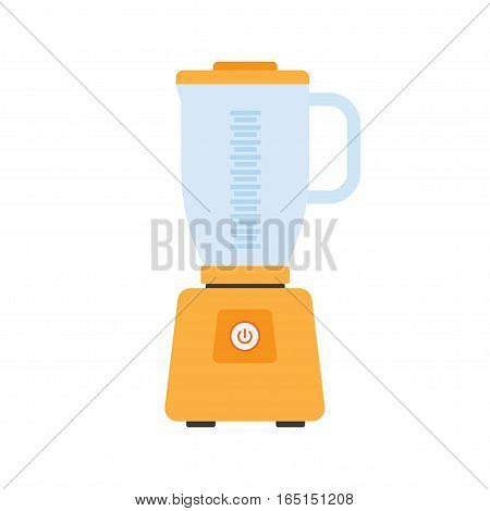Juice kitchen blender machine easy to make drinks healthy food mix. Apparatus for cooking kitchen blender electric appliance equipment flat vector.