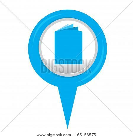 Isolated web pin with a folder icon, Vector illustration