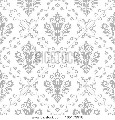 Elegant classic pattern. Seamless abstract background with repeating elements. Light gray pattern