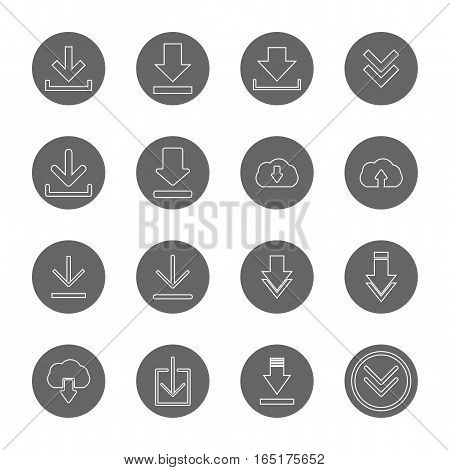 download thin line icons set,vector Illustration EPS10
