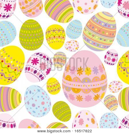 Vector Easter Seamless background
