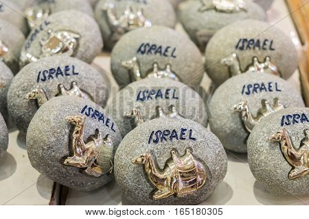The Golden Camel On Gray Stone - Souvenir From Israel