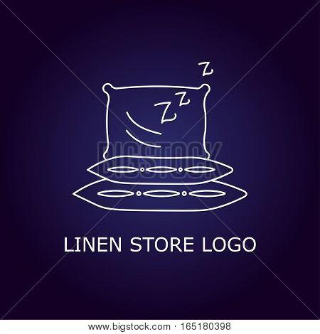 Creative concept symbol for hotel, hostel, travel, housing rent, real estate. Linen store logo. Vector