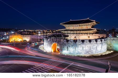 Hwaseong Fortress Traditional Architecture of Korea in Suwon South Korea