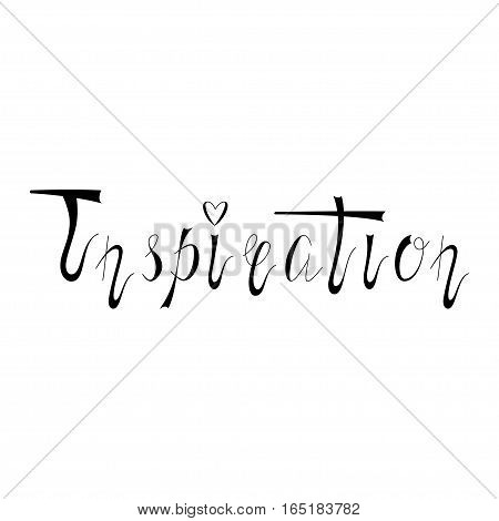 Hand written retro lettering Inspiration made in vector. Vintage letters design with nice effect. Postcard, greeting card, poster