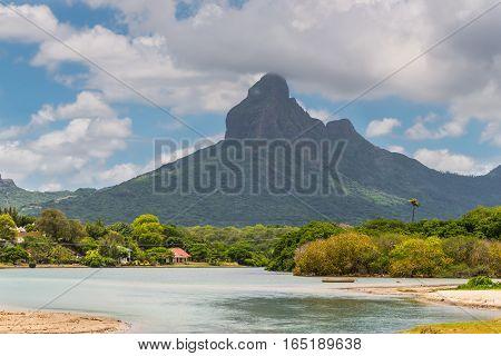 Tamarin Bay and beach Mt. Rampart Black River District Mauritius Island