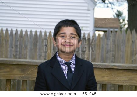 Cute Kid Formally Dressed