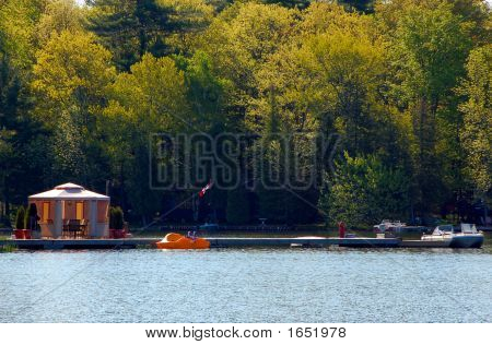 Gazebo On A Dock