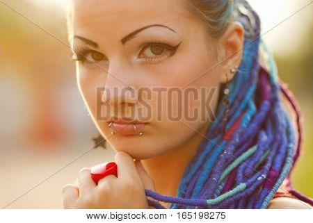 Portrait Of Teenage Punk Girl