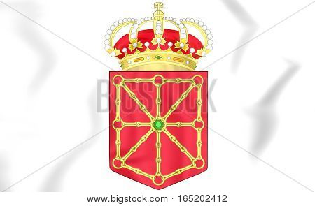 Navarra Coat Of Arms, Spain. 3D Illustration.