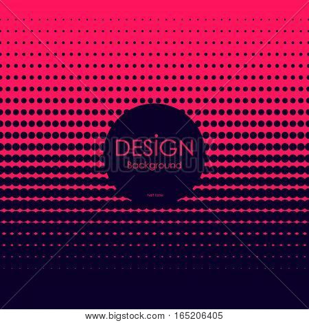 Abstract red and dark blue halftone background. Vector illustration.