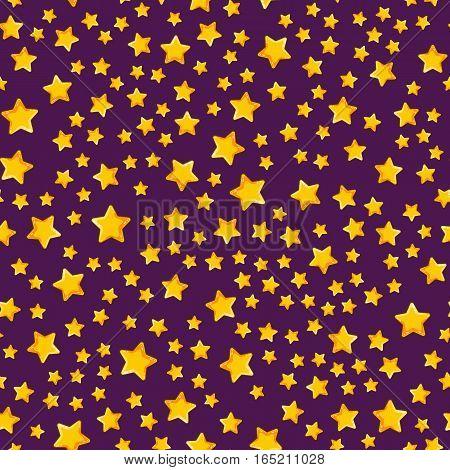 Seamless pattern with cartoon star. Cute illustration