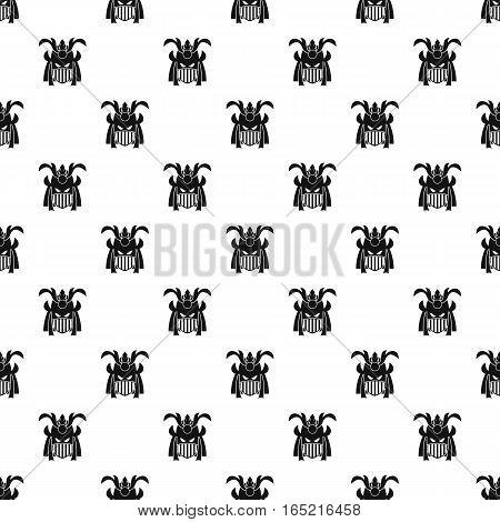 Japanese samurai mask pattern. Simple illustration of japanese samurai mask vector pattern for web