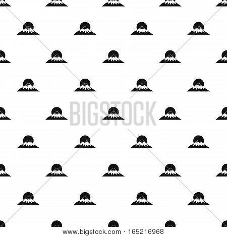 mountain of Fuji Japan pattern. Simple illustration of  mountain of Fuji Japan vector pattern for web
