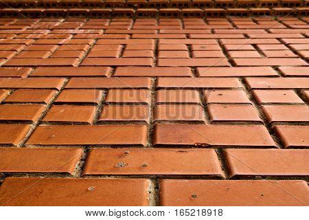 Brick, brick wall texture, brick wall background. New brick wall. New brick background.