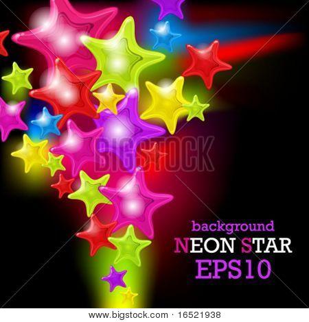Spritzen des abstrakten glänzende Sterne - Vektor-Hintergrund