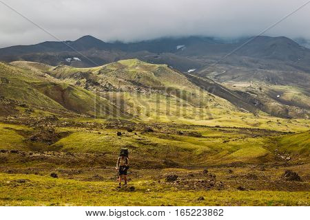 Landscape and landmarks at Kamchatka Peninsula, Russia