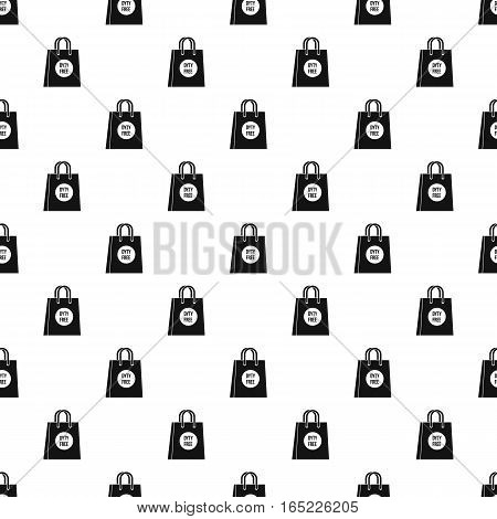 Duty free bag pattern. Simple illustration of duty free bag vector pattern for web