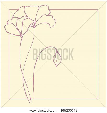 Vector frame with flowers for your design
