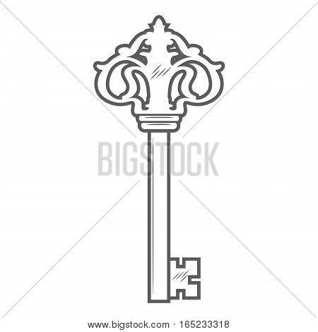 Key isolated on white background vector illustration