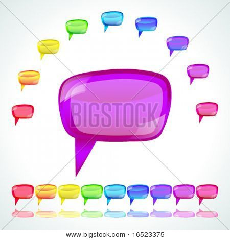 Set of speech bubbles - vector illustration