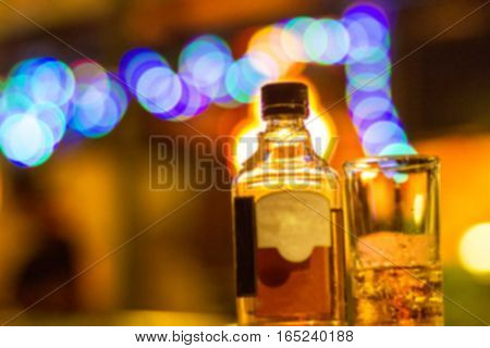 Blurred drink alcohol and party bokeh background