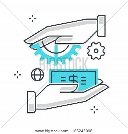 Business; Vector; Icon; Concept; Illustration; Target; Market; Consumer; White; Marketing; Businessm