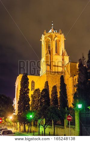 Cathedral of Tarragona in the evening - Catalonia, Spain