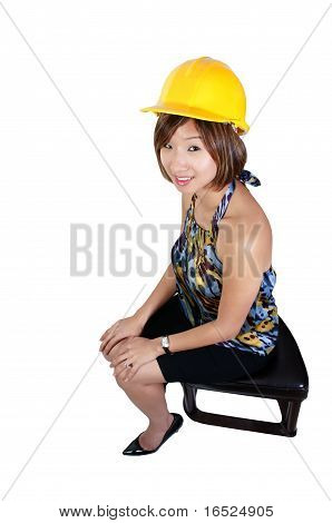 Asian Female Construction Worker