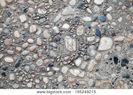 Ancient Stone Road Pavement, Closeup Texture