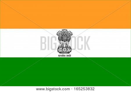 Flag of India officially the Republic of India is a country in South Asia. Vector illustration