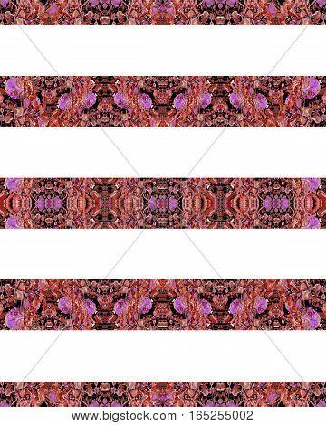 Horizontal Stripes Boho Background Pattern