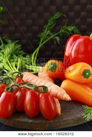 Diferentes verduras frescas