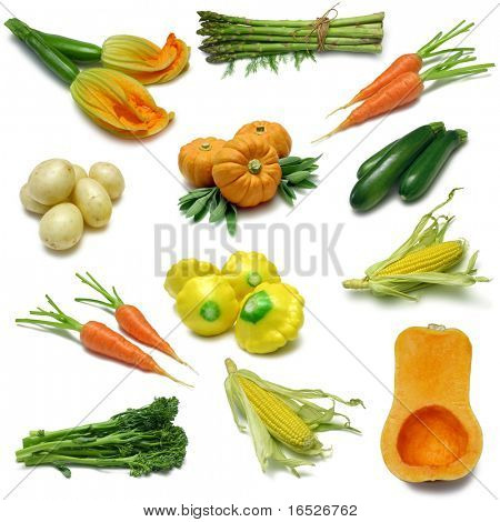 Vegetable Sampler with clipping paths