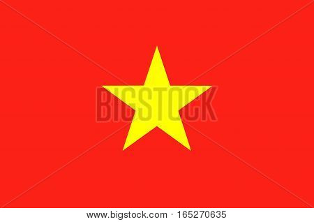 Flag of Vietnam officially the Socialist Republic of Vietnam
