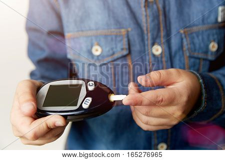 Medicine, diabetes, glycemia health care and people concept
