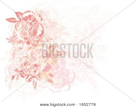 Roses And Grunge Background Design
