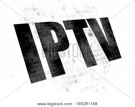 Web development concept: Pixelated black text IPTV on Digital background