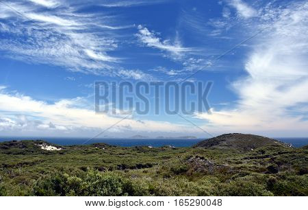 Scenic view in the Wilsons Promontory Natural Park Victoria Australia