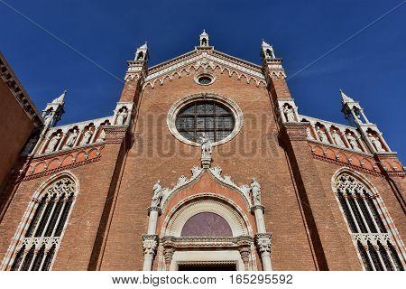 Santa Maria dell'Orto beautiful gothic facade in Venice