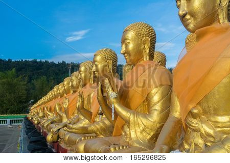 Buddha Which is generally seen as the temple in Thailand.