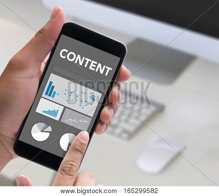 Content Concept  Data Blogging Media , Journalism Global Daily News Content Marketing Social  Advert