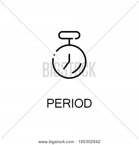 Timer icon. Single high quality outline symbol for web design or mobile app. Thin line sign for design logo. Black outline pictogram on white background