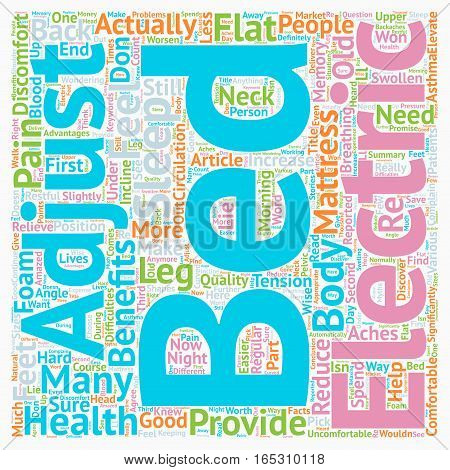 Can Electric Adjustable Bed Relieve the Pain text background wordcloud concept