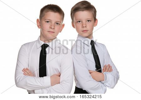 Two Handsome Young Boys