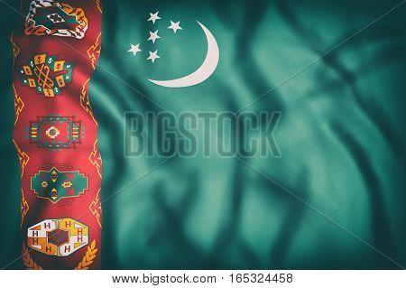 Turkmenistan Flag Waving