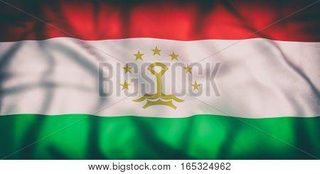 Republic Of Tajikistan Flag