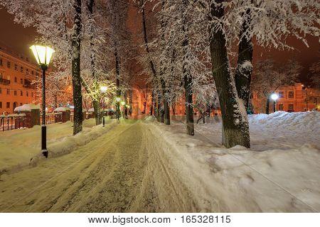 Winter Park At Night